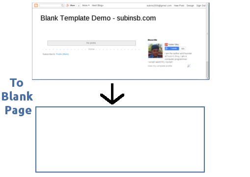 Make A Blank Template / HTML Page In Blogger - Subin\'s Blog